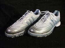 Women s Adidas Powerband Sport White Gray Powder Blue Golf Shoes Size 9 ... c3cd56031
