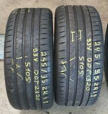 2 x 245/35 ZR19 93Y Michelin Sommerreifen 7,2 mm DOT 1520