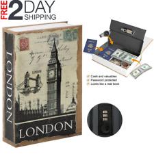 New Book Safe Box Lock Vault Water  Home Money Gun Cash Sentry storage HOT