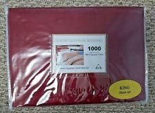 1000 TC Luxury 100% Egyptian Cotton Sheet Set - King Size - Maroon