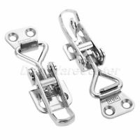 Catch Lock Switch Hasp Latch Toggle For Trunk Suitcase Case Boxes Toolbox Silver