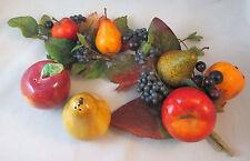 Apple & Pear Salt & Pepper Shakers plus fruit vine tableware centerpiece