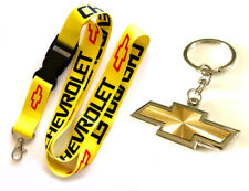 2 in 1 Combo CHEVROLET CHEVY Lanyard and Gold Silver Keychain key chain