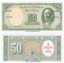 Chile 5 Centesimos en 50 PESOS ND (1960-1961) P-126b Billetes Unc