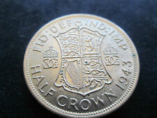 1943 KING GEORGE VI SILVER HALFCROWN IN VERY COLLECTABLE CONDITION SPINK 4080 B