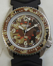 Seiko Divers Wrist Watch Mens Camouflage Dial 7002-700A 42MM Restored Customized