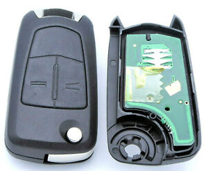 1x Auto Funkschlüssel 433 MHz 2 Tasten Rohling HU100 für OPEL Corsa D Bj. 07-14