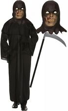 Executioner Grim Reaper Scream Halloween Robe Fancy Dress Costume Scythe + Mask