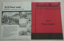 2c 32 Power Front End Loader Owners Manual Amp Brochure Ih Farmall C Super C 200