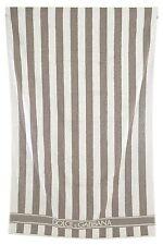 BNWOT DOLCE & GABBANA Grey/White Stripe Large Logo Pool/Beach Towel.