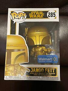 Star Wars Funko Pop Vinyl Walmart Exclusive Gold Jango Fett #285