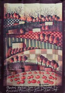"Think Fall Standard House Flag by Toland 28"" x 40"", Primitive #1229 Folk Art"
