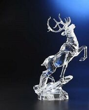 Leaping Deer Lights -Up on Base Beautiful Etched Detail on Body and Antlers