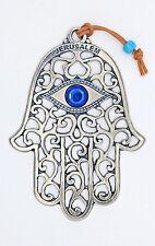 Large HAMSA wall hanging evil eye luck kabbalah amulet charm Jerusalem hand