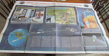 The Way to the Moon 1960's NASA Project Apollo fold out poster 42x29