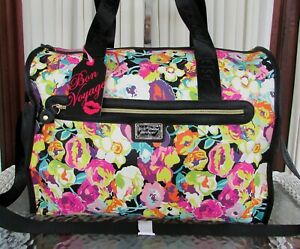 Betsey Johnson Floral Weekender Duffel Bag Carry on NWT