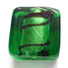 Silver Foil Square Glass Jewellery Making Beads
