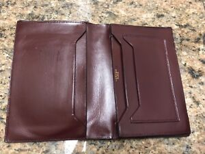 HERMES Burgundy Leather Wallet