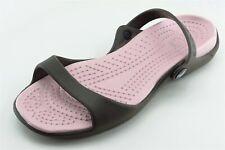 Crocs Size 9 M Brown Slingback Synthetic Women Sandal Shoes