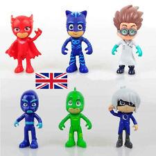 1Set Pj Masks Characters Catboy Owlette Gekko Cloak Action Figure Toys Kids Gift