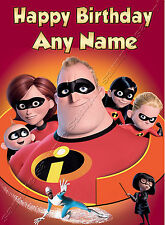 - THE INCREDIBLES - IDEAL FOR SON GRANDSON CHILDREN'S PERSONALISED BIRTHDAY CARD