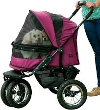 Pet Gear No-Zip  Double Pet Stroller - Boysenberry Pg8700Nzbb New in Box