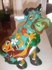 """Cow Statue w/ Dora the Explorer Pictures 9.5""""T """"Very Unique"""""""