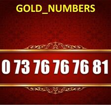 GOLD MOBILE PHONE NUMBER MEMORABLE GOLDEN EASY VIP 07376767681