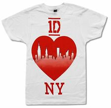 """ONE DIRECTION """"LOVE NY"""" WHITE T-SHIRT NEW OFFICIAL MUSIC ADULT X-SMALL XS"""