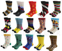 Mens Cotton Happy Socks Colorful Fashion Fancy Casual Sock Male SOX wedding Gift