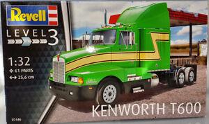Revell Kenworth T600 Lkw Truck 1:32 grün Kunststoffmodell 61 Teile 07446 Neuware