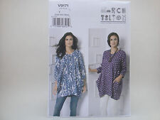 Vogue 9171 Marcy Tilton Wearable Art , Pullover Tunic Pattern Xsm-Med  or L-XXL