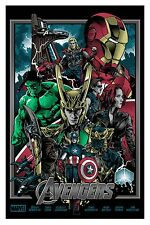 The Avengers Movie Screen Print Poster Alexander Iaccarino Infinity War Thanos