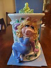 Miss Piggy & Kermit Cookie Jar Treasure Craft Henson Muppets