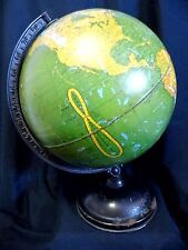 "Magnificent 1931-1934 George F. Cram 12"" Terrestrial Globe AMAZING Coloring"