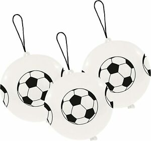 FOOTBALL PUNCH BALL BALLOONS X 3 BIRTHDAY PARTY BAG FILLER LOOT BAG FAVOURS NEW