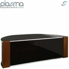 Sirius 1200 Black and Walnut Corner TV Cabinet