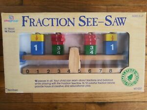 Vintage PlayGroup Tumbleweed Wood Toy Fraction Seesaw----Brand New In Box