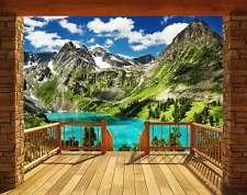 Fototapete Berge Alpen Panorama Wandtapete Tapete + Tapetenkleister 305x244cm