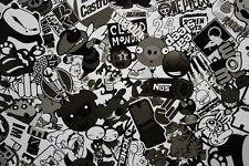 30 x 150CM Black White sticker sticker bomb foil Autofolie sticker bomb film