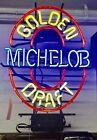"Michelob Golden Draft Neon Light Sign 20""x14"" Beer Display Wall Decor"