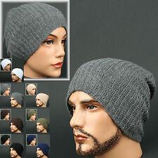 Beanie WAFFLE GRAY STRIPE Skull Knit Head Wrap Rasta Fashion Hat