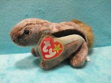 BNWT 1999 TY Beanie Babies - Chipper Chipmunk Squirrel - Soft Plush Stuffed Toy