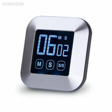 Digital Kitchen Magnetic Touchscreen Cooking Timer Loud Alarm Large LCD Screen