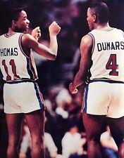 Photo of Detroit Pistons Isiah Thomas & Joe Dumars