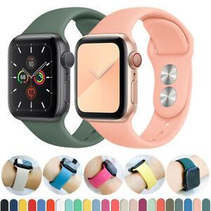 Sport iWatch Silicone Band Strap for 38/40/42/44mm Apple Watch 6 5 4 3 SE /UK