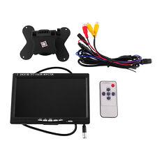 "Car 7"" TFT LCD Rear View Monitor 7 Inch W/HDMI +VGA For DVD GPS Gamera"