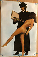 Original Vintage Poster The Priest And The Naked Woman 1970's Pin Religion
