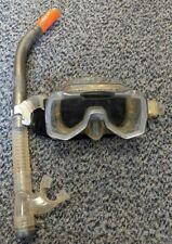 Tusa Pano Geo Scuba Snorkelling Mask Snorkel and Strap Pad - Grey