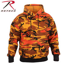 ROTHCO SAVAGE ORANGE CAMO PULLOVER HOODIE MILITARY CAMO HOODED SWEATSHIRT S-3X